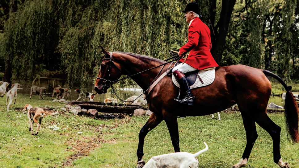 Barrington honors one of the community's founding traditions with the blessing of the hounds and hunt. PHOTOGRAPHY BY KIRSTIN MICCOLI