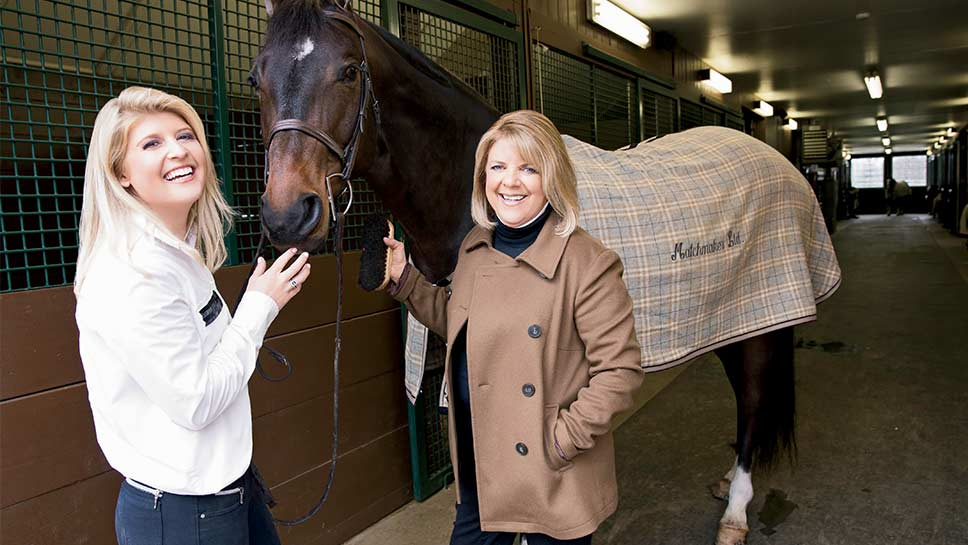 Lake Bluff's mother and daughter duo Connie and Hannah Stevens take a leap of faith with the purchase of a boutique horse farm. PHOTOGRAPHY BY ROBIN SUBAR