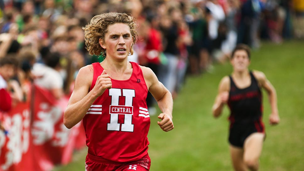 Charged-up Hinsdale Central distance ace Blake Evertsen is in the running for more feats. PHOTOGRAPHY BY JOEL LERNER