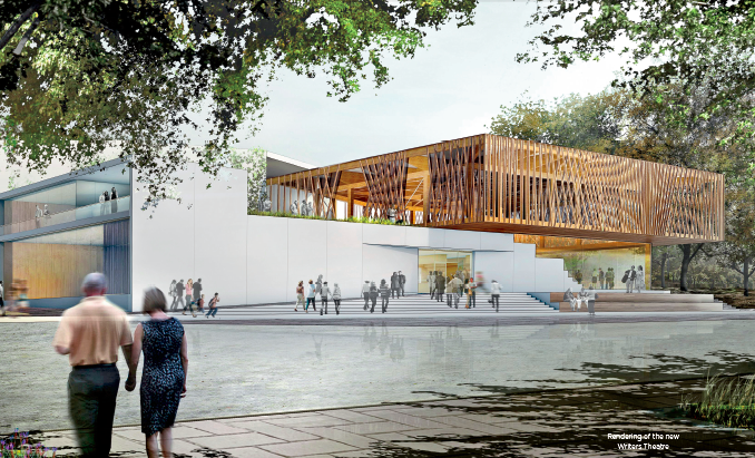 Rendering of new Writers Theatre