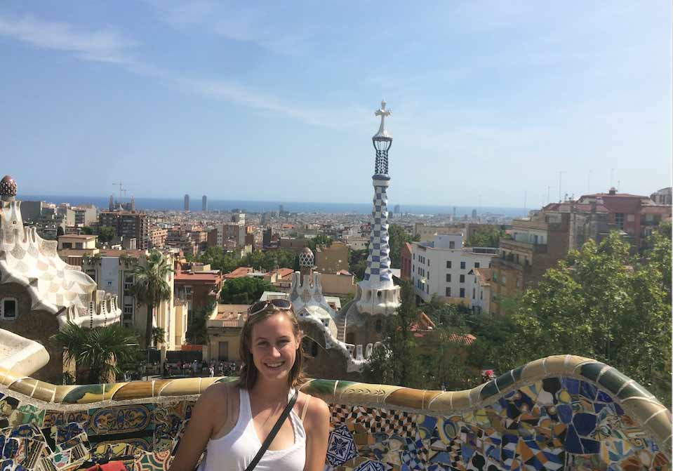 Madeleine Fawcett during her semester abroad in Spain