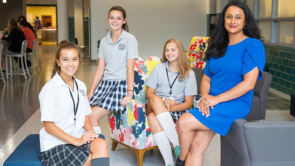 Regina Dominican High School's new president Elizabeth Pattara uses her business acumen to prepare the school for its future. PHOTOGRAPHY BY ROBIN SUBAR
