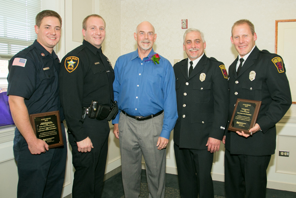 Firefighters & Cop Honored