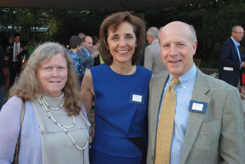 From left: Susan Gaud, Roberta Haebler and Philip Haebler. Photo by Dennis Tuskan.