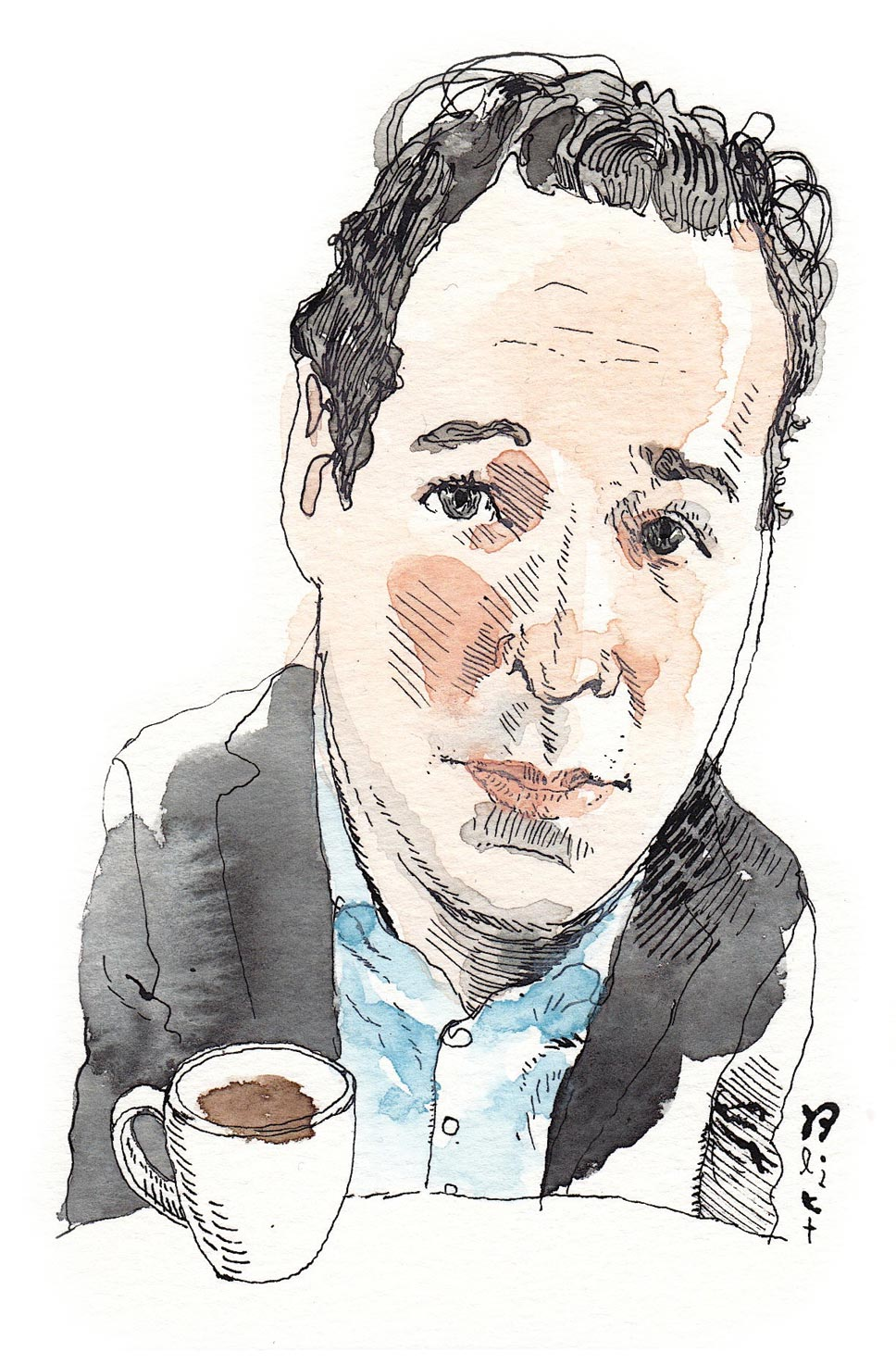 Illustration of Rich Cohen by Barry Blitt