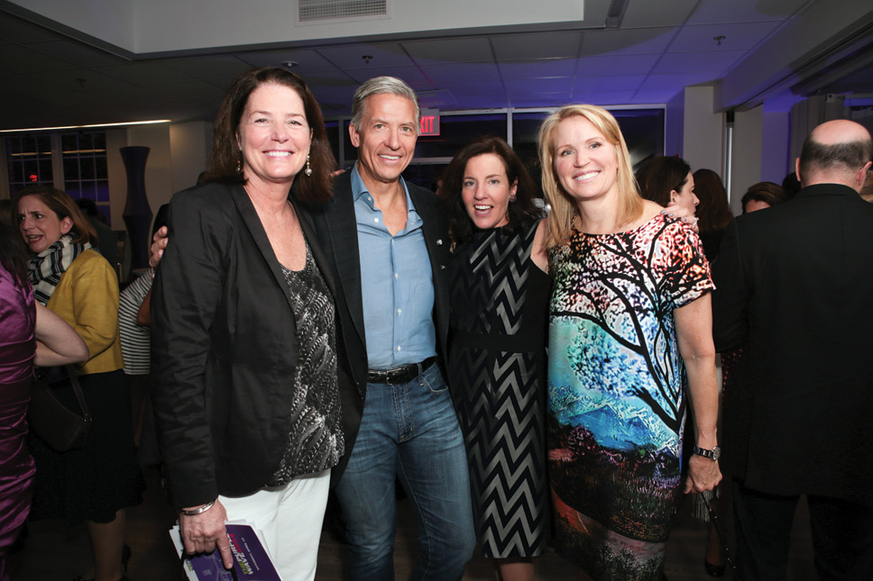 Left to right: Jane McCarthy, Byron Trott, Susan Bondurant, Tina Trott. Photography by Robin Subar.