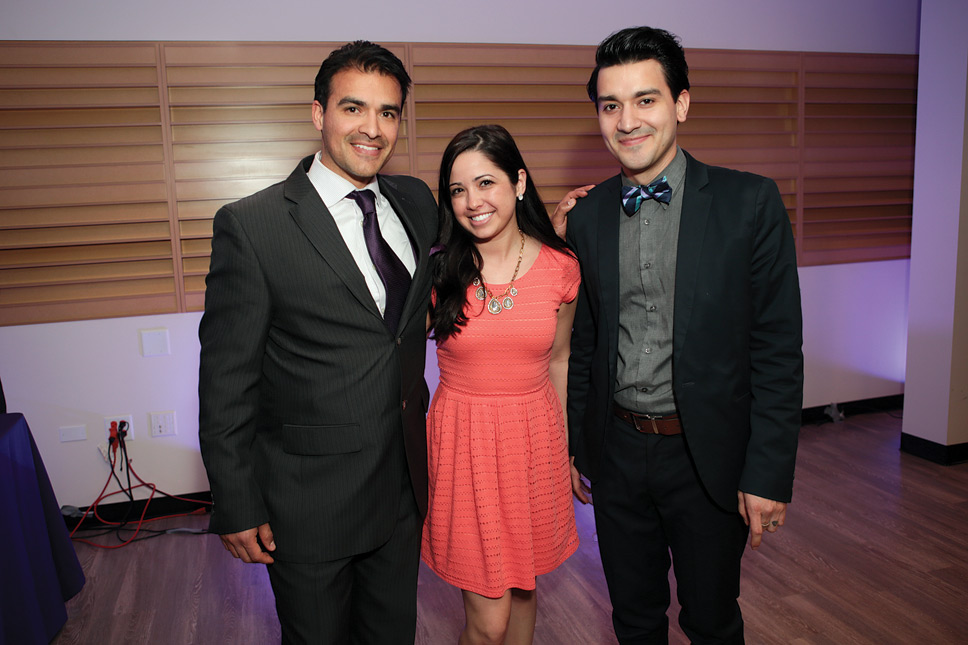 Left to right: Luis Arredondo, Nicole Knuerr, Rudy Rodriguez. Photography by Robin Subar.