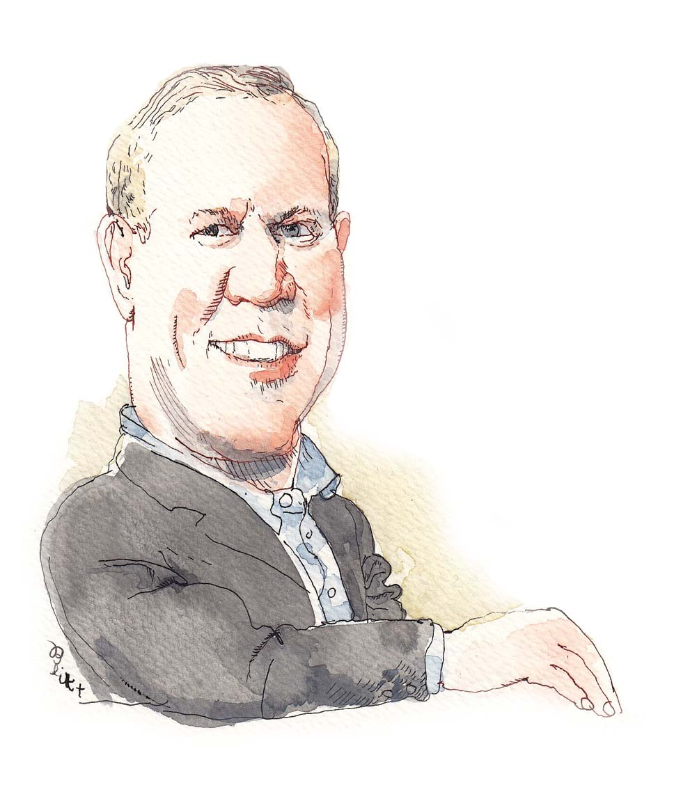 Illustration of Bruce Rauner by Barry Blitt