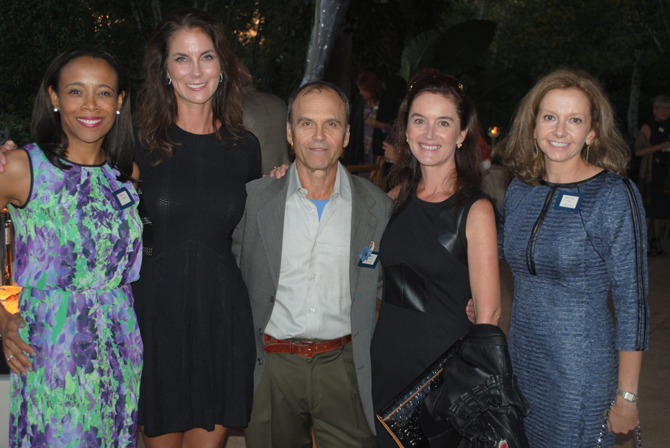 From left: Dena Perry (Lake Forest), Karena Garriques (Lake Forest), author Scott Turow (Evanston), Dustin O'Regan (Lake Forest) and Jeanna Park (Lake Forest). Photo by Dennis Tuskan.