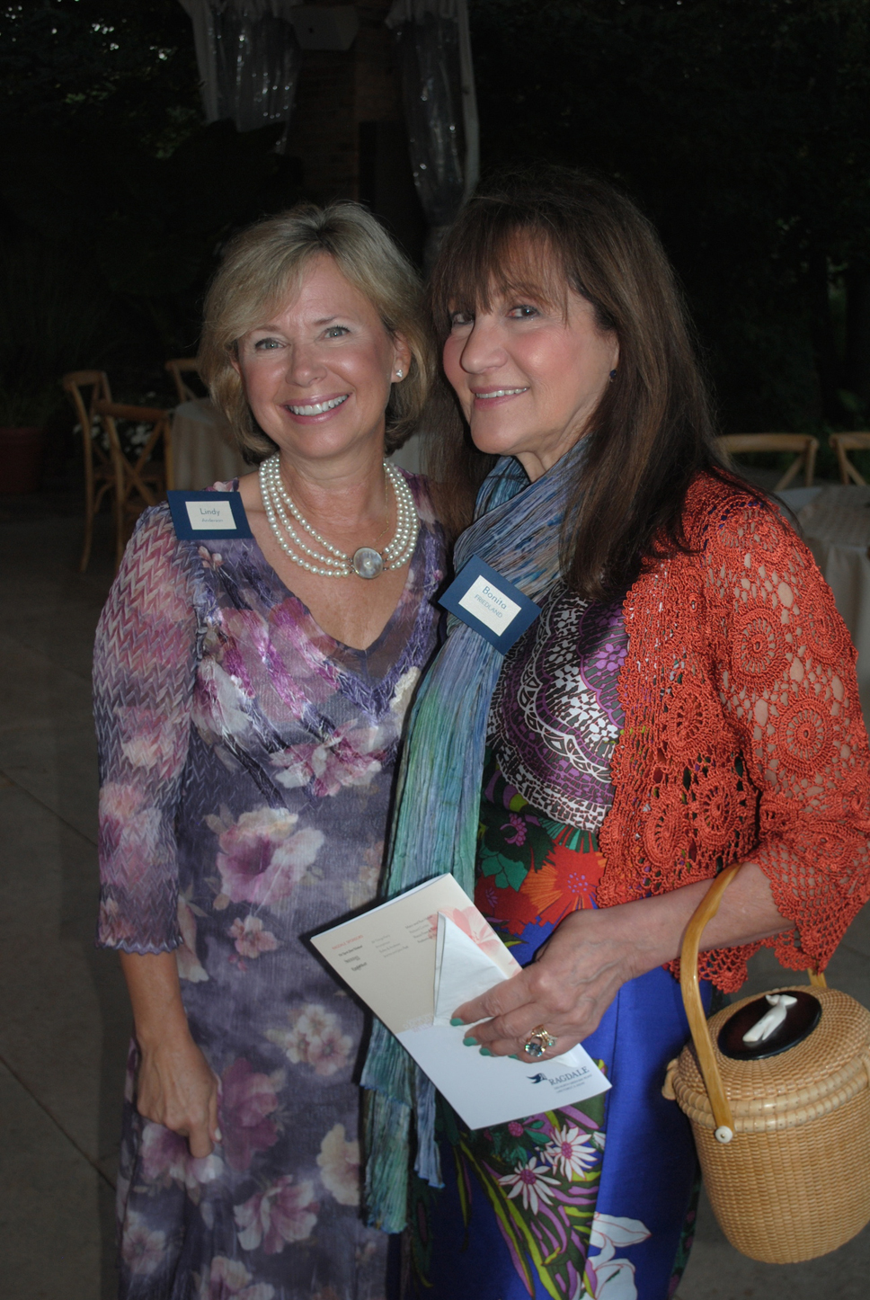 Lindy Anderson (Lake Forest) and Bonita Friedland (Lake Forest). Photo by Dennis Tuskan.