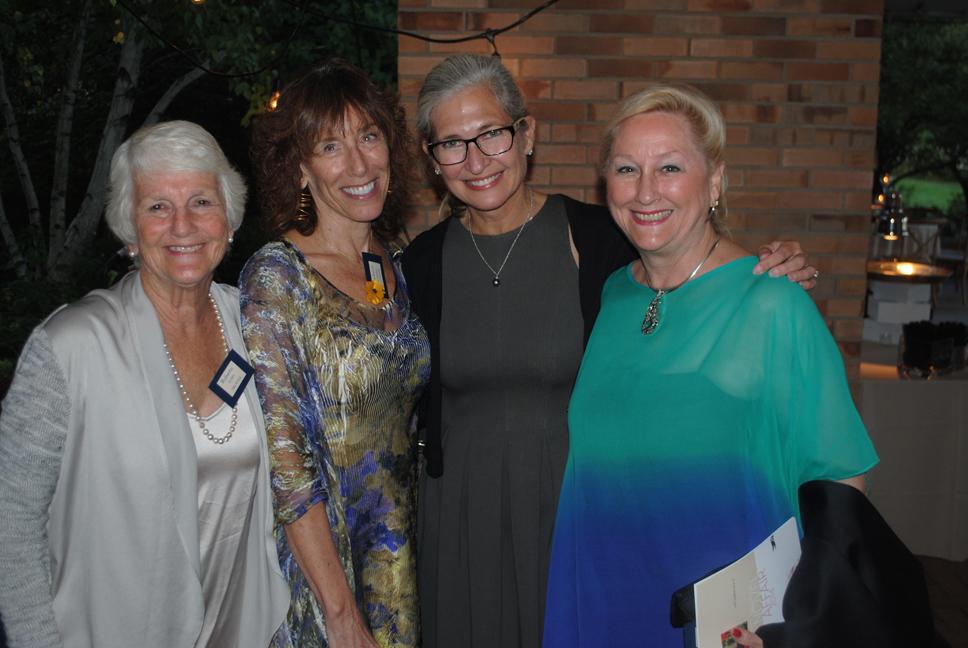 Roberta Rubin (Glencoe), author B.A. Shapiro, Nike Whitcomb (Chicago) and Stephanie Hochschild (Winnetka). Photo by Dennis Tuskin.