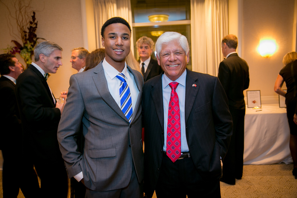 Jacob Mosley (Michigan State University Evans Scholar) and Lee Trevino