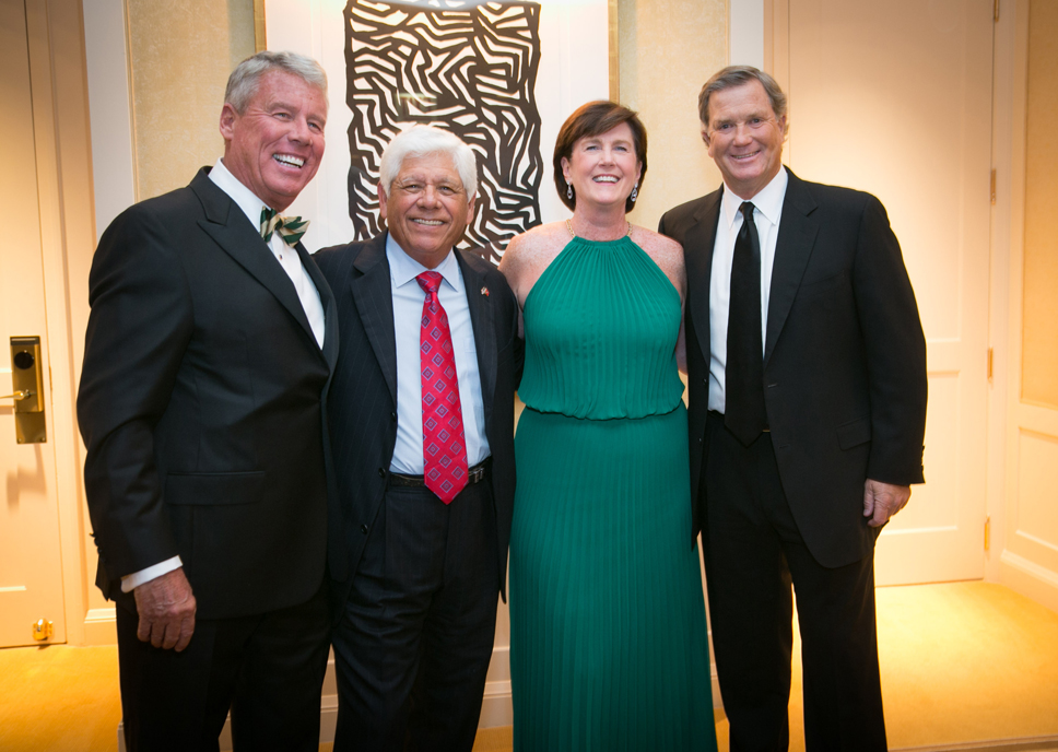 Dennis O'Keefe (Winnetka), Lee Trevino, Kathy O'Keefe (Winnetka) and Peter Jacobsen (pro golfer)