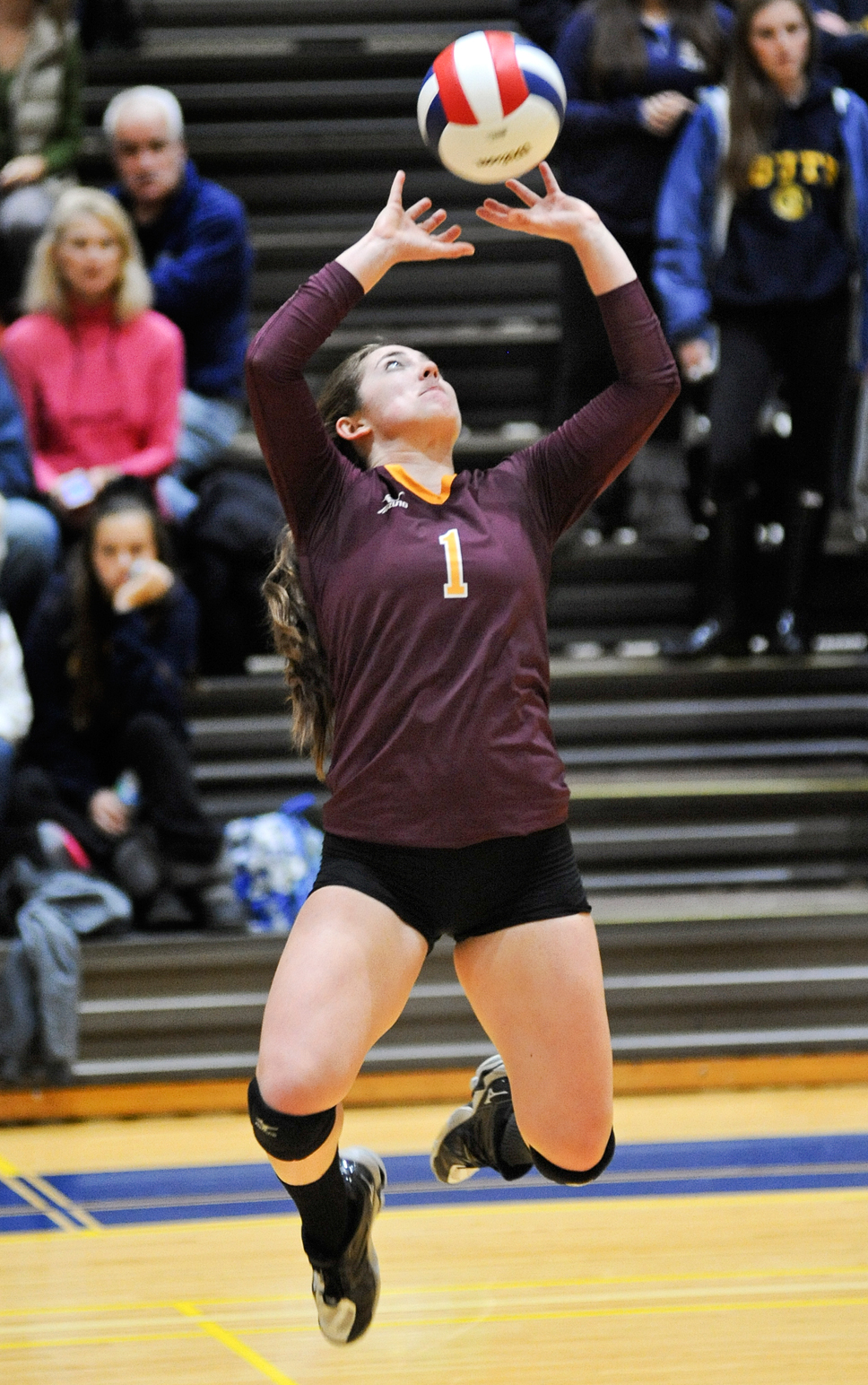 Loyola Academy's junior setter Katie Randolph. Photography by George Pfoertner
