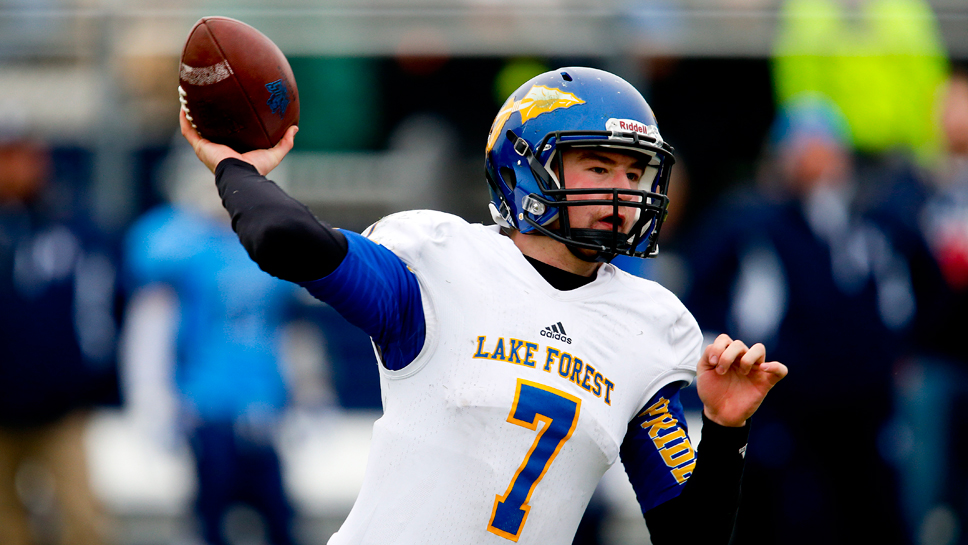 Lake Forest quarterback Danny Carollo. Photography by Joel Lerner