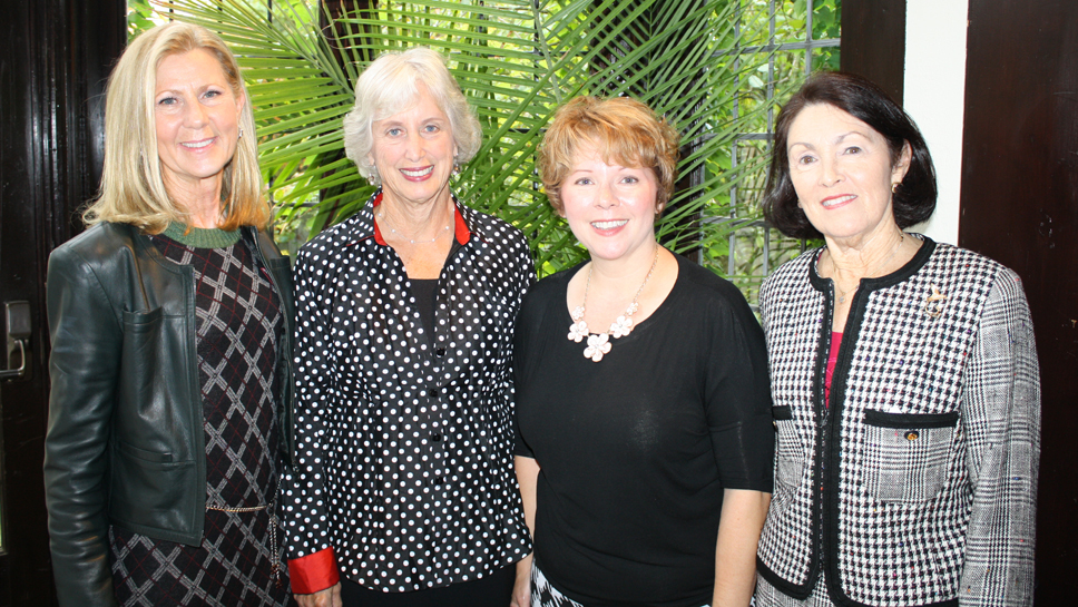 From left: Jerri Hoffmann (Winnetka), Alice White Zarov (Northbrook), Author Melanie Benjamin, Ruthie McNally (Winnetka)