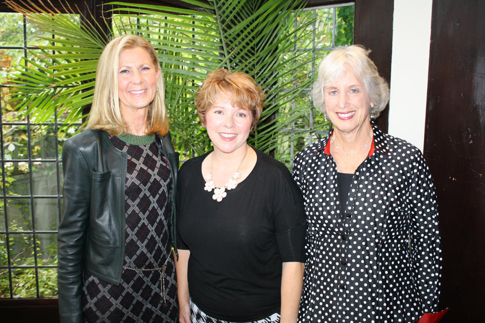 From left, Jerri-Hoffmann-(Winnetka), Author Melanie Benjamin, and Alice White Zarov (Northbrook)