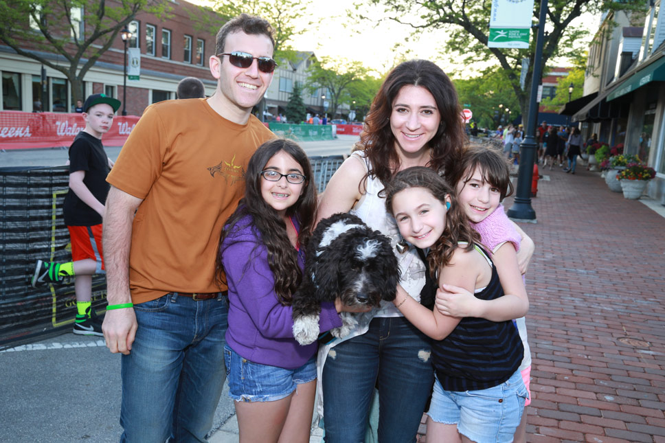 DAN MYSEL, MAYA ZANFRANI, EMILY MYSEL, ANNIE & LEILY BARKOFF. Photography by Larry Miller