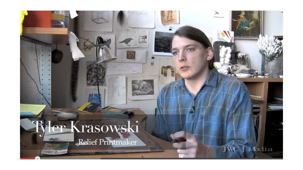Relief Printmaker Tyler Krasowski