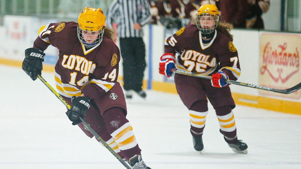 Loyola's Caldwell Collecting Hat Tricks
