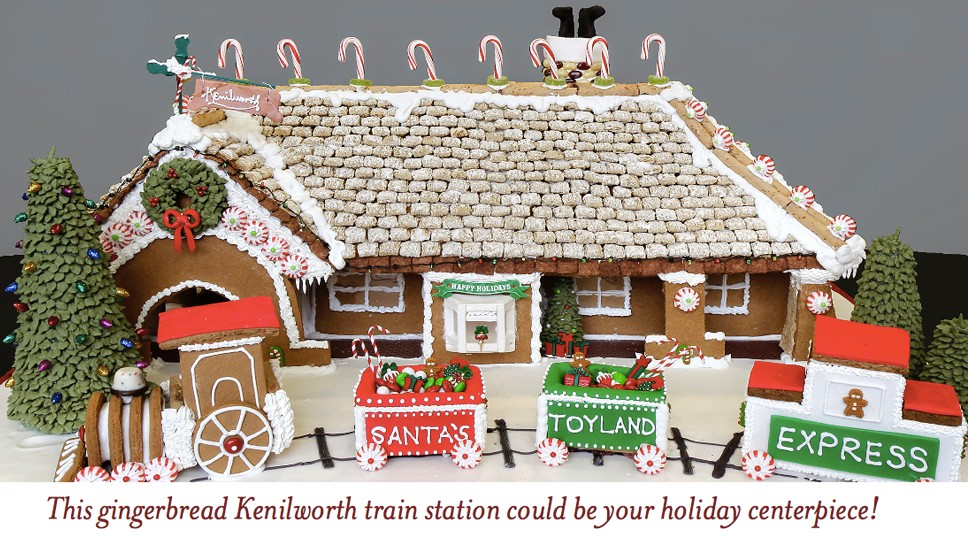 Gingerbread Train Station in Kenilworth