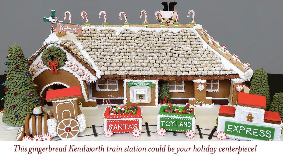 Gingerbread Train Station in Kenilworth