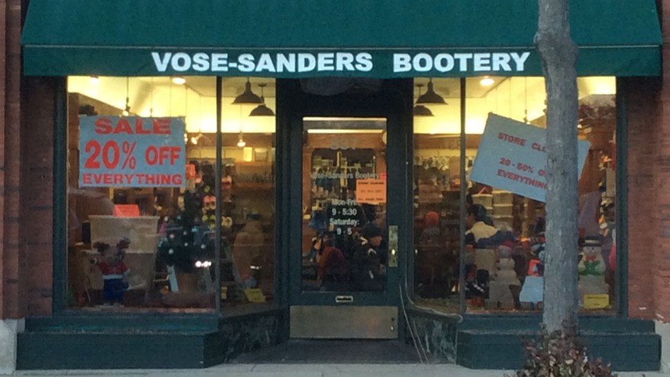 Vose-Sanders Bootery To Close