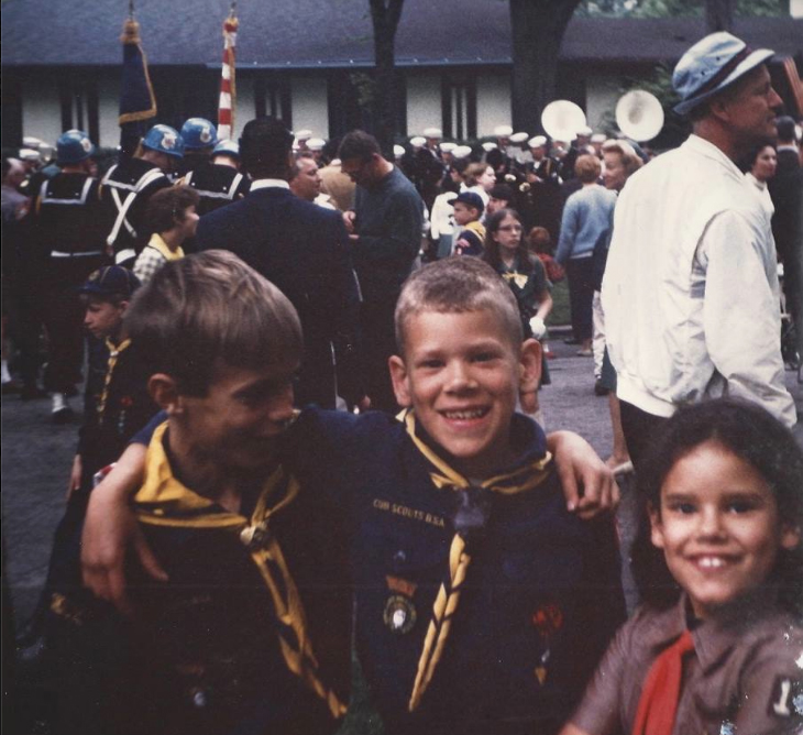 Walter and friends in their Scouting days in Kenilworth