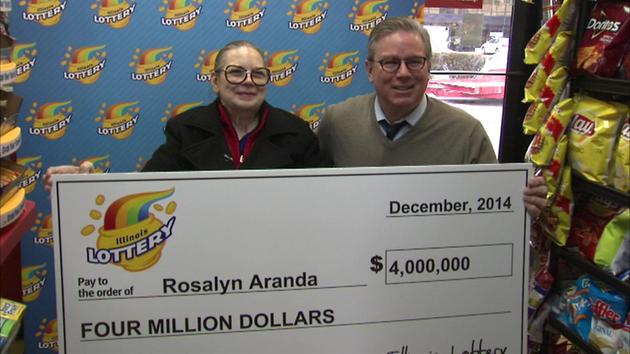Rosalyn Aranda is one of the three lucky winners of the Illinois Lottery in Glenview.