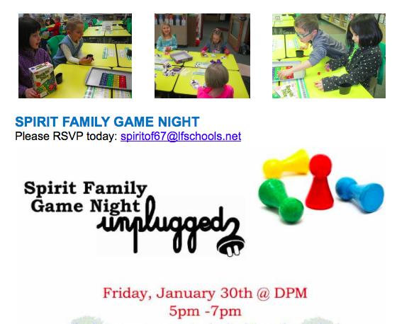 Spirit of 67 Board Game Night!