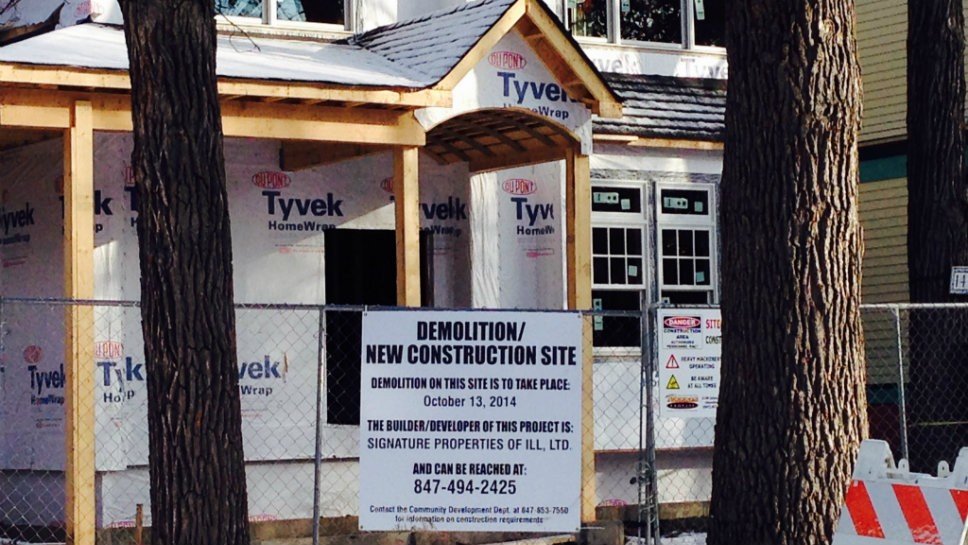 Wilmette Construction Going Up