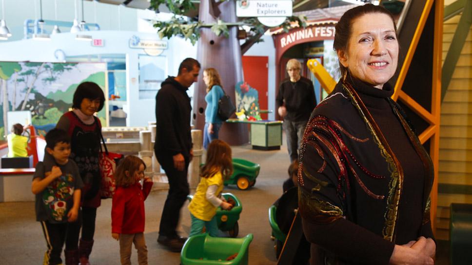 Sheridan Turner makes sure kids enjoy Kohl Children's Museum.