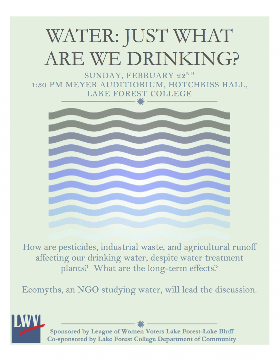 Water: What Are We Drinking?