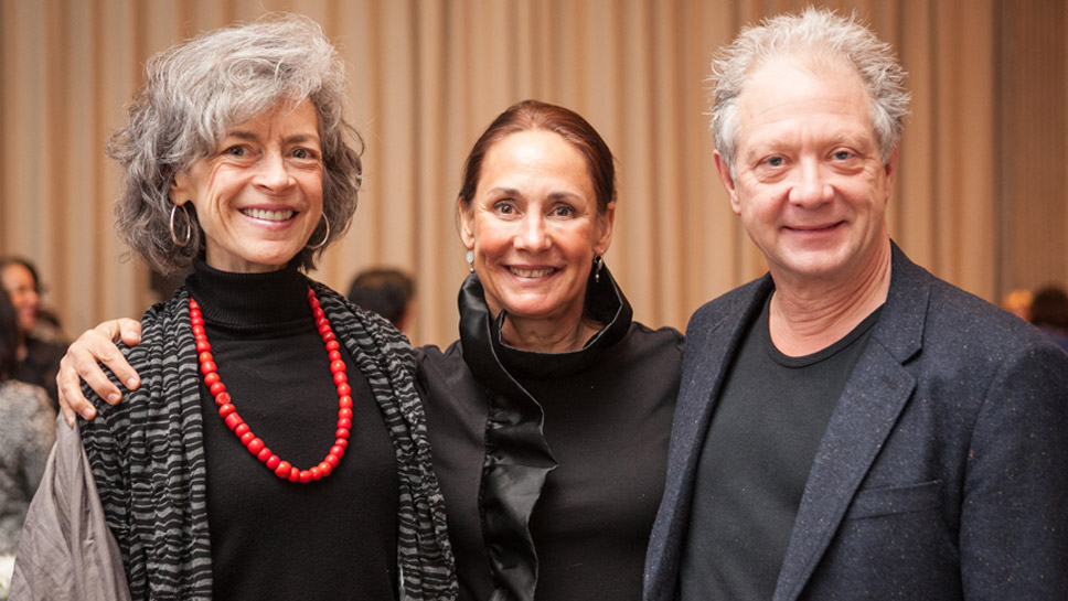 Martha Lavey, Laurie Metcalf, and Steppenwolf Co-founder Jeff Perry Photography by Kyle Flubaker