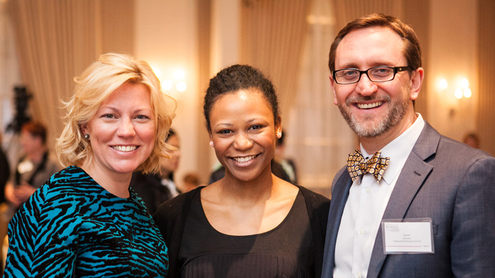 Steppenwolf Board Chair Nora Daley, Ensemble Member Alana Arenas, and Steppenwolf Managing Director David Schmitz Photography by Kyle Flubacker
