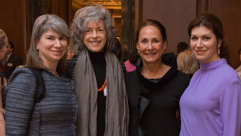 Jill Hirsch, Steppenwolf Artistic Director Martha Lavey, Honoree and Ensemble Member Laurie Metcalf, and Elizabeth Scheinfeld Photography by Mark Cambell