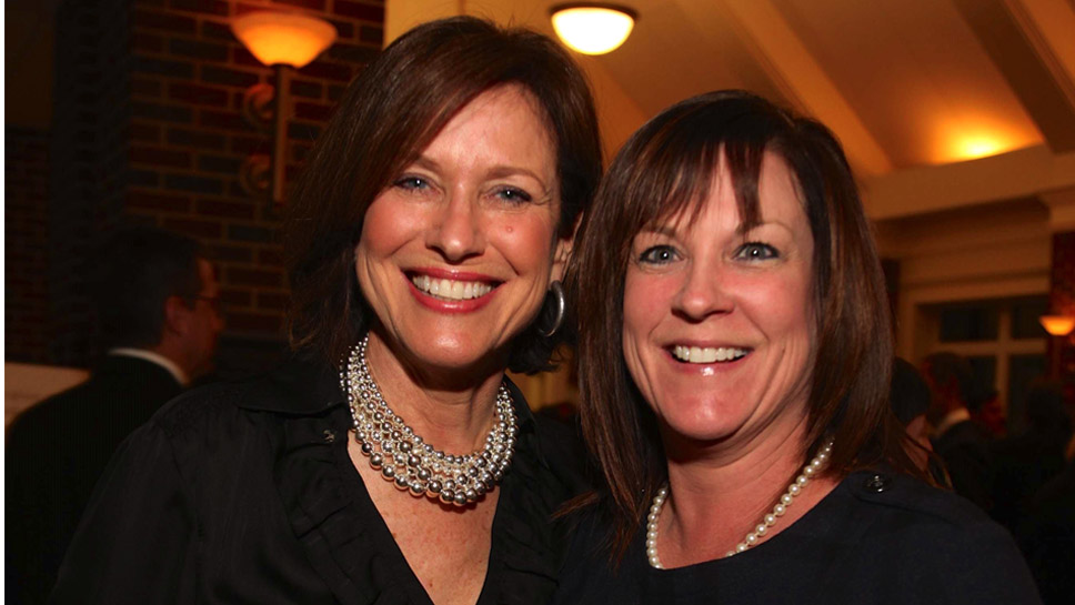 Wilmette resident Joan Mulvihill Kitchie '77, VP of Advancement, and Denise Kane, graduate parent, of Pennsylvania