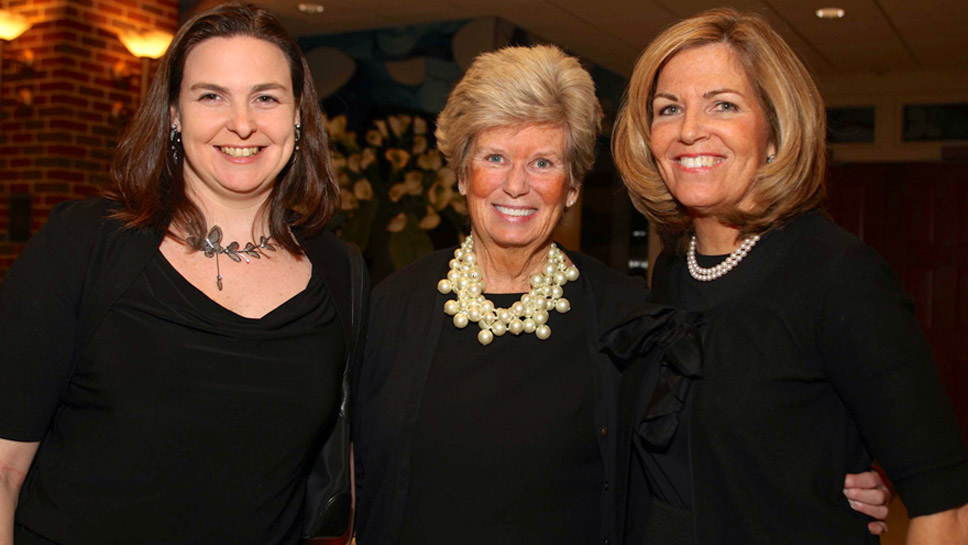 Kerrigan McNulty '98 of Highwood, Sally Schulte Staff '65 of Northbrook and Joanie Schulte Reynolds '72 of Lake Forest