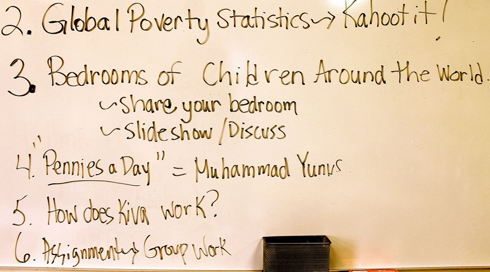 Students at Maple learned about the effects of global poverty.