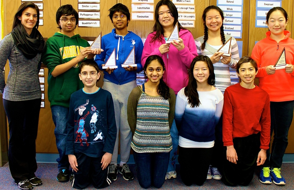 A group of Maple students placed second at a Mathcounts competition.