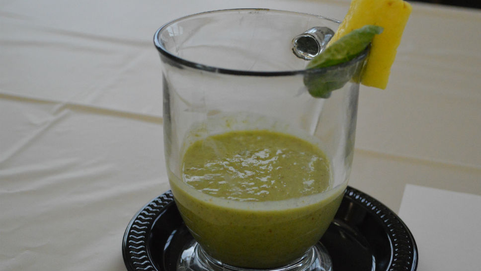 "Patricia Corasis' winning ""Go Green Smoothie."""