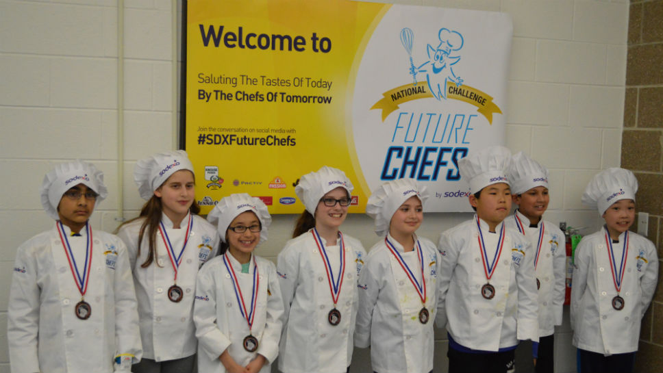 All of the Future Chefs finalists.