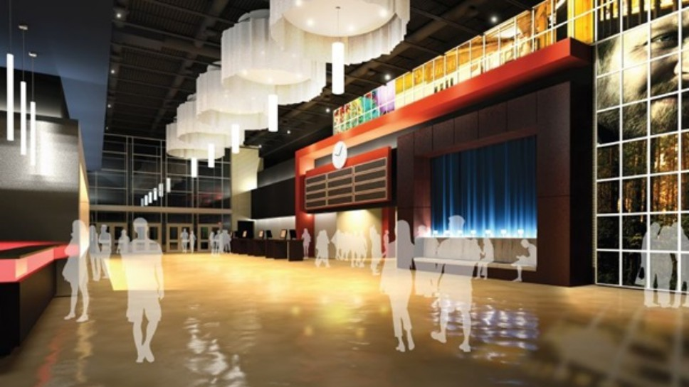A rendering of the new ArcLight Theatre coming to The Glen Town Center