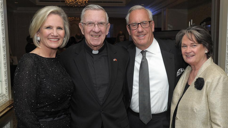 Bobbie Vender, Fr. Foley, Jeff Vender, Trudy Cook