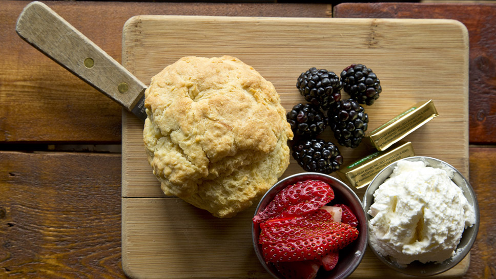 English scones are a favorite at Peckish Pig. Photography by Joel Lerner
