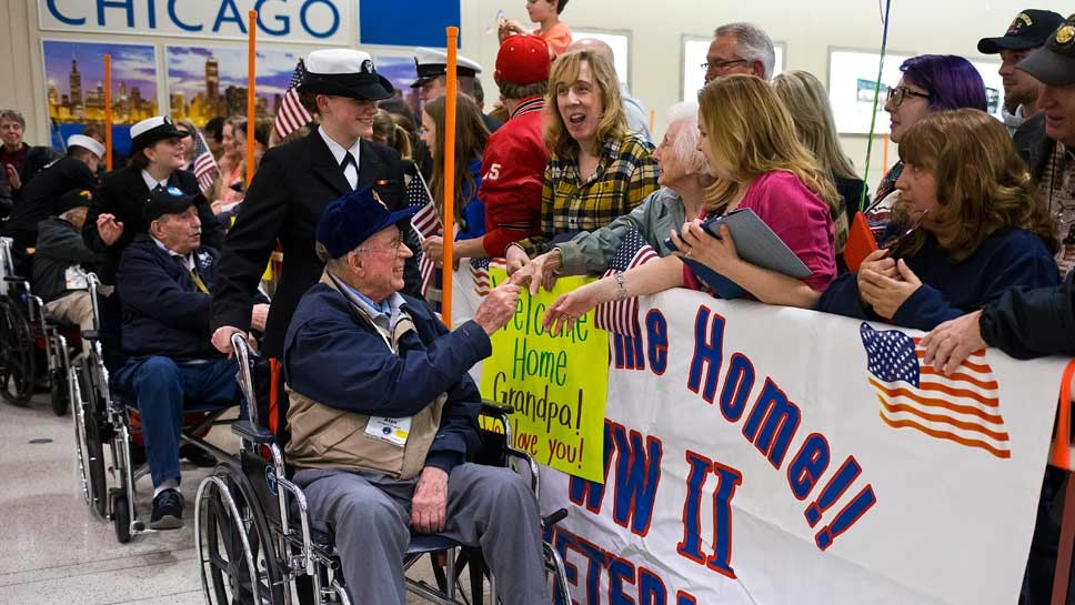 WWII Honor Flight Lifts Spirits