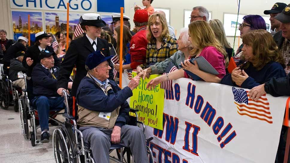 WWII Honor Flight Lifts Spirits