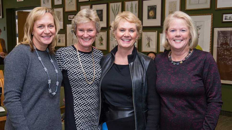 Auxiliary President Claudine Gerbel, 2015 ACE Co-Chair Liz Dauten, 2015 ACE Co-Chair Debbie Kerr of, and 2016 ACE Co-Chair Dana Turban.