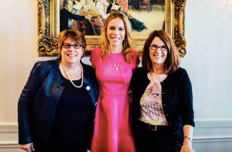 Maureen Grinnell of Lake-Forest, Author Allison Pataki, and Allison Derr of Lake Forest