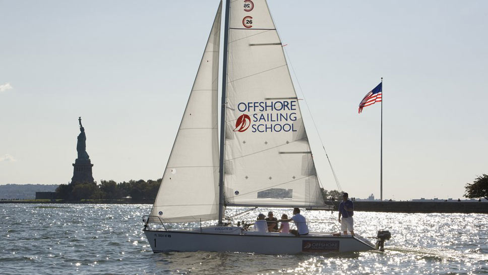 Designed to be a safe and steady platform for teaching, the Colgate 26 is swift enough  to excite very experienced sailors.  There are now five Colgates in the the sail fleet in Lake Forest.